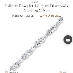 Diamond infinity bracelet from Jared's